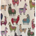 Tapestry 80% Cotton 20% Polyester Funky Llama Llamas Animal Fabric 140cm Wide