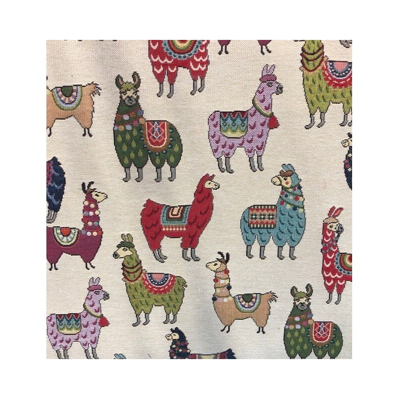 Tapestry 80% Cotton 20% Polyester Funky Llama Llamas Animal Fabric 140cm Wide