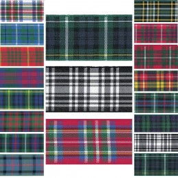 Berisfords Scottish Woven Tartan Ribbon 7mm - 70mm