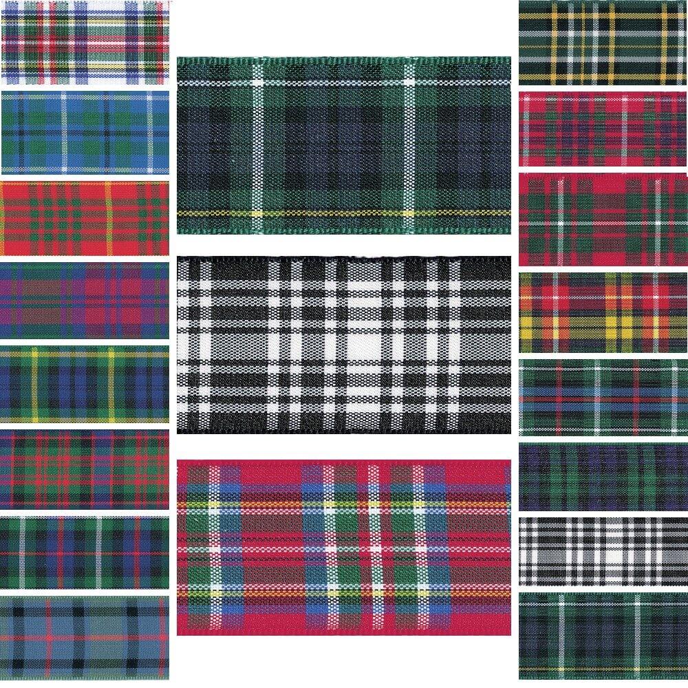 Berisfords Scottish Woven Tartan Ribbon Gordon