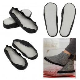 Regia Leather Soles Hand Knitted Slipper Socks All Sizes