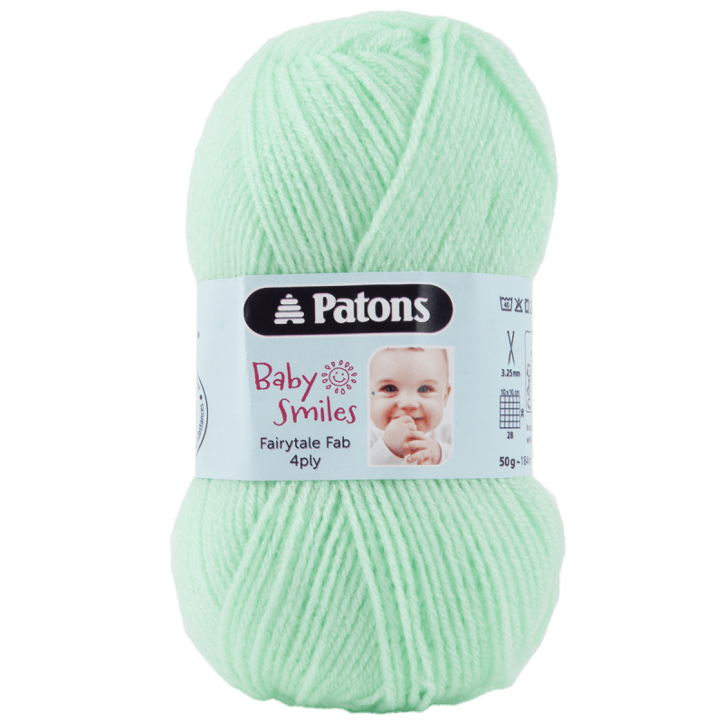 Patons Fairytale Fab Baby Smiles 4 Ply 50g Pale Green