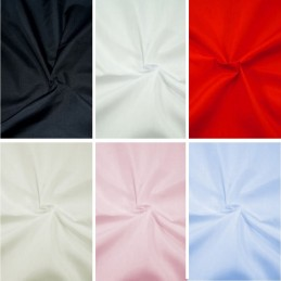 "Plain Polycotton Fabric 150cm Wide 60"" Poly Cotton Craft Dress"