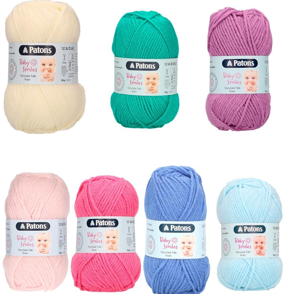 Patons Fairytale Fab Aran 50g Ball 10Ply Knitting Yarn Natural