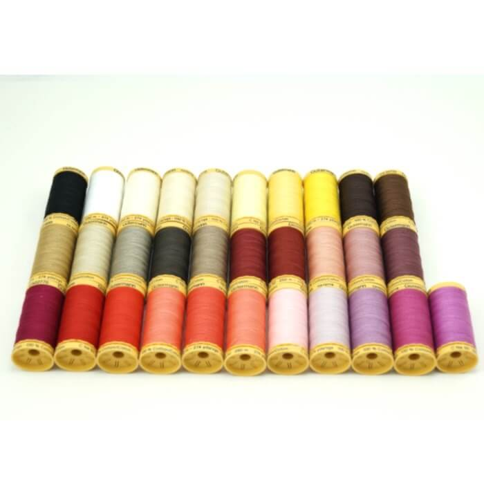 Gutermann Sewing Thread 100% Natural Cotton 250m Reels In 31 Colours (1)