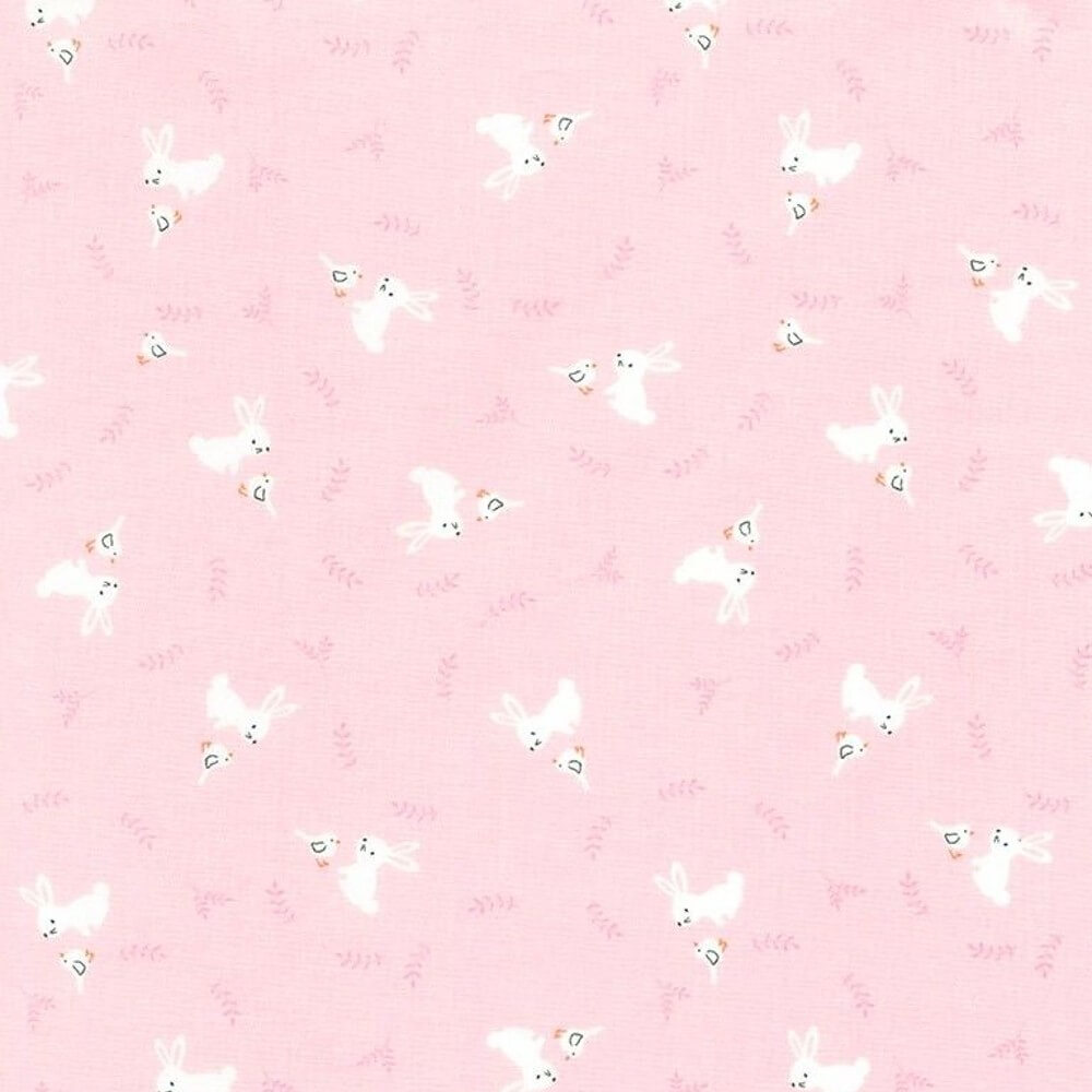 100% Cotton Fabric Timeless Treasures Bunny Rabbits & Birds