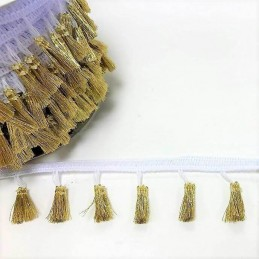 1m x 38mm Tassle Fringe Trim Bertie's Bows Various Colours