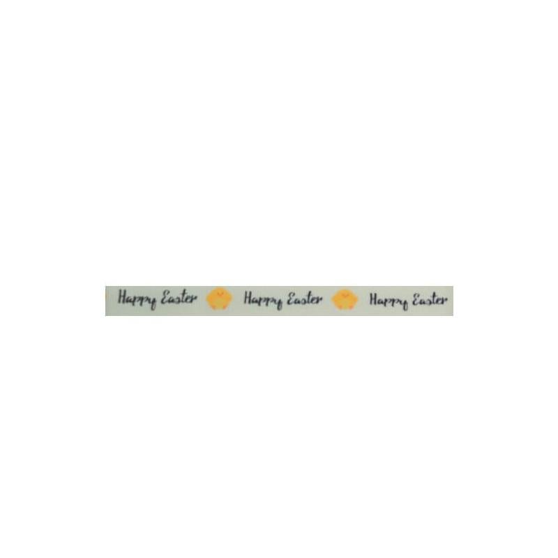 1M 16mm Or 9mm Bunny Chicks Egg Happy Easter Bertie Bows Grosgrain Ribbon