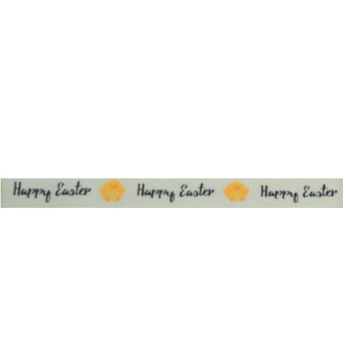 1M 16mm Or 9mm Bunny Chicks Egg Happy Easter Bertie Bows Grosgrain Ribbon