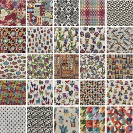Line Tapestry Fabric Curtains Upholstery Cushions 140cm wide