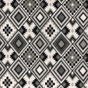 Aztec Black & White Tapestry New World Designer Fabric Ideal For Upholstery Curtains Cushions Throws
