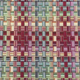 Basket Weave Tapestry New World Designer Fabric Ideal For Upholstery Curtains Cushions Throws