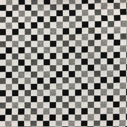 Big Chess Black & White Tapestry New World Designer Fabric Ideal For Upholstery Curtains Cushions Throws