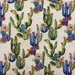 Cactus Tapestry New World Designer Fabric Ideal For Upholstery Curtains Cushions Throws