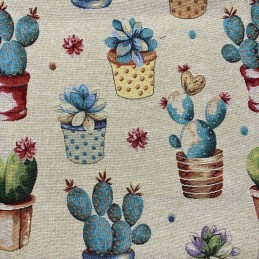 Coyote Tapestry New World Designer Fabric Ideal For Upholstery Curtains Cushions Throws