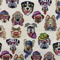 Dogs Tapestry New World Designer Fabric Ideal For Upholstery Curtains Cushions Throws