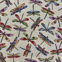 Dragonflies Tapestry New World Designer Fabric Ideal For Upholstery Curtains Cushions Throws