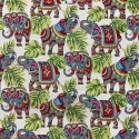 Indian Elephant Tapestry New World Designer Fabric Ideal For Upholstery Curtains Cushions Throws