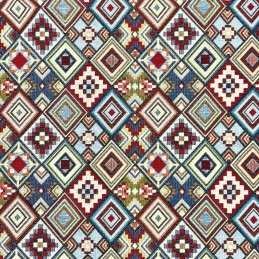 Little Aztec Tapestry New World Designer Fabric Ideal For Upholstery Curtains Cushions Throws