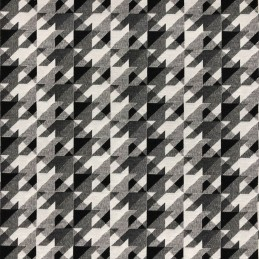 Little Glasgow Black & White Tapestry New World Designer Fabric Ideal For Upholstery Curtains Cushions Throws