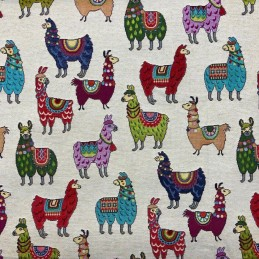 Llamas Tapestry New World Designer Fabric Ideal For Upholstery Curtains Cushions Throws