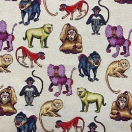 Monkeys Tapestry New World Designer Fabric Ideal For Upholstery Curtains Cushions Throws