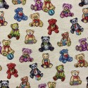 Teddy Bears Tapestry New World Designer Fabric Ideal For Upholstery Curtains Cushions Throws