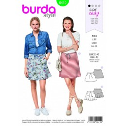 Burda Style Skirt Duo Fabric Sewing Pattern 6410