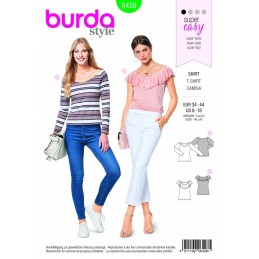 Burda Style Ladies Fitted TShirt Top Fabric Sewing Pattern 6428