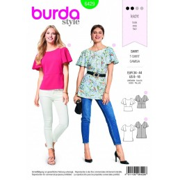Burda Style Fashionable Wide Sleeved Top Fabric Sewing Pattern 6429