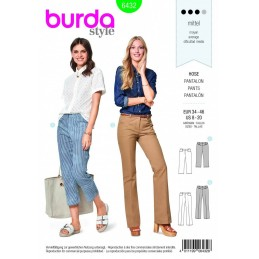 Burda Style Smart Business Trousers Fabric Sewing Pattern 6432