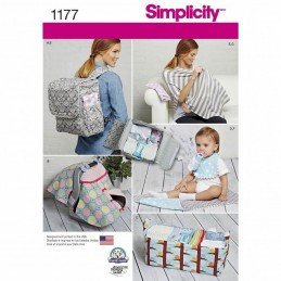 Simplicity Baby Accessories Playmat Nappy Bag Organiser Bib Sewing Pattern 1177