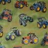 100% Cotton Fabric Nutex Tractor Time Farmyard Fun
