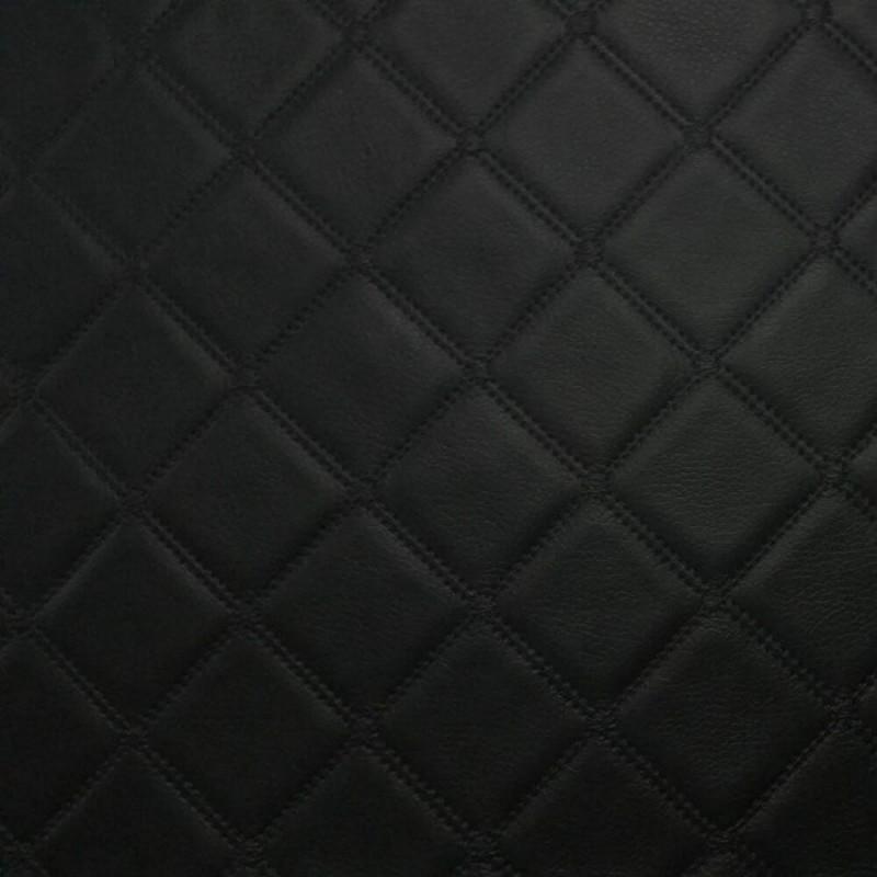 Trellis Diamond Vinyl Quilted Style Leatherette Faux