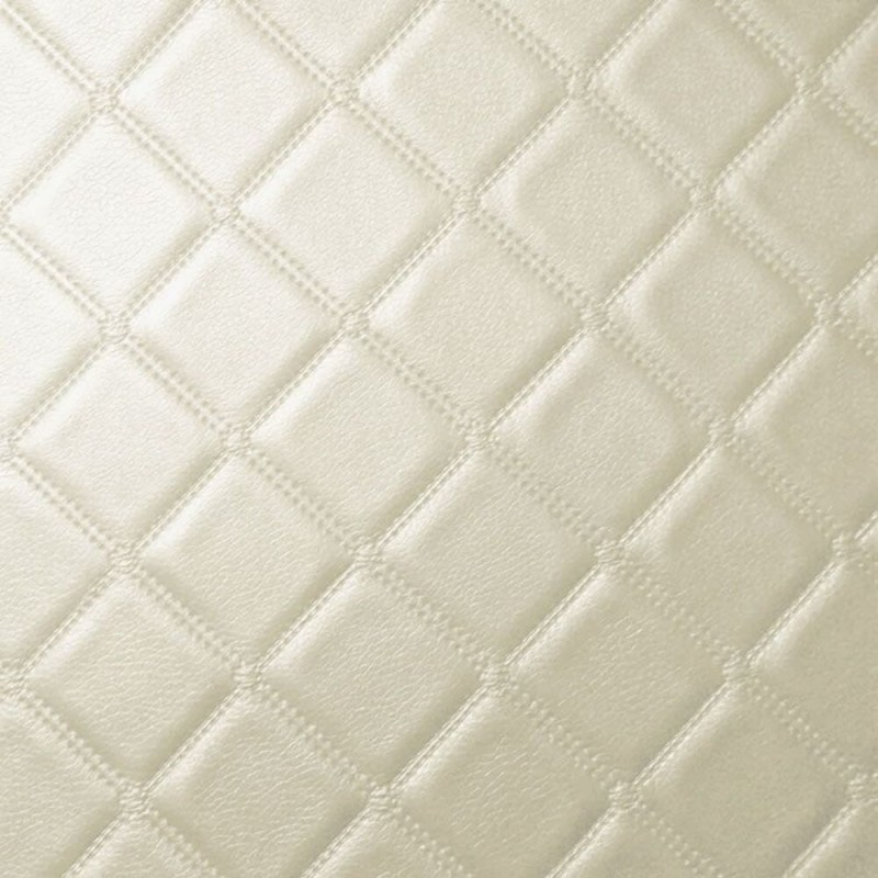 Faux Leather Trellis Diamond Fabric Fire Retardant Leatherette Upholstery Vinyl