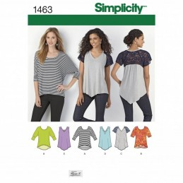 Simplicity Various Sleeve Length Knit Top Sewing Pattern 1463