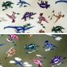 100% Cotton Fabric Nutex Jurassic Dinosaur Multi Colour