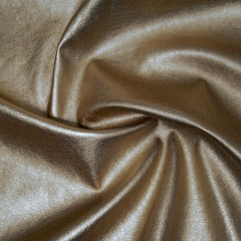 High Shine Metallic Stretch Leatherette Fabric Col 30 Gold