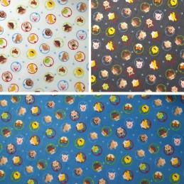 100% Cotton Fabric Clothworks Cartoon Astronaut Heads