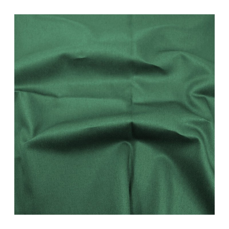 Bottle Green Cotton Drill Fabric Material