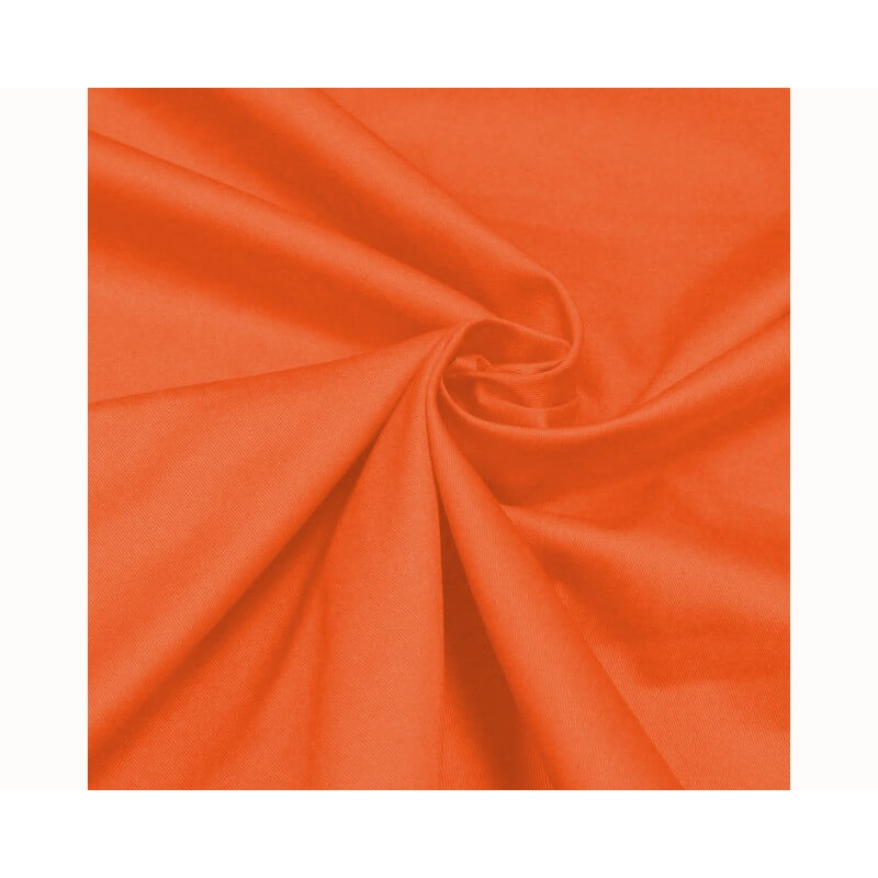 Orange Cotton Drill Fabric Material