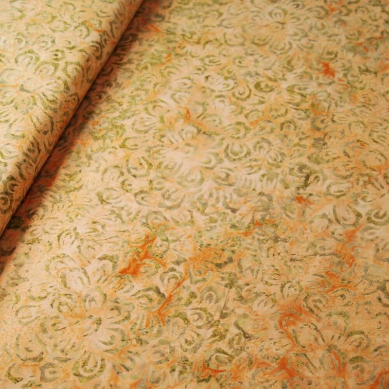 SALE 100/% Cotton Fabric Freedom Cream Beige Stars Flowers Petal
