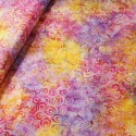 Fabric Freedom 100% Cotton Bali Batik Petal Power Floral Patchwork BK116 Col E
