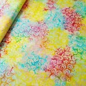 Fabric Freedom 100% Cotton Bali Batik Petal Power Floral Patchwork BK116 Col H
