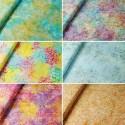 Fabric Freedom 100% Cotton Bali Batik Petal Power Floral Patchwork BK116