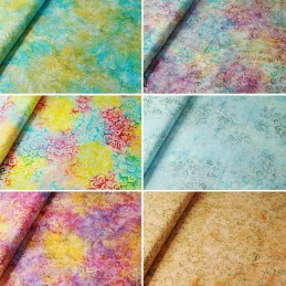 Fabric Freedom 100% Cotton Bali Batik Petal Power Floral Patchwork BK116
