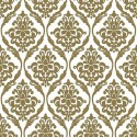 Vinyl PVC Tablecloth Easy Wipe Clean Damask Print Gold