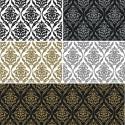 Vinyl PVC Tablecloth Easy Wipe Clean Damask Print