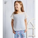 Simplicity Child & Girl Trousers Summer Dress & Top Fabric Sewing Patterns 8621