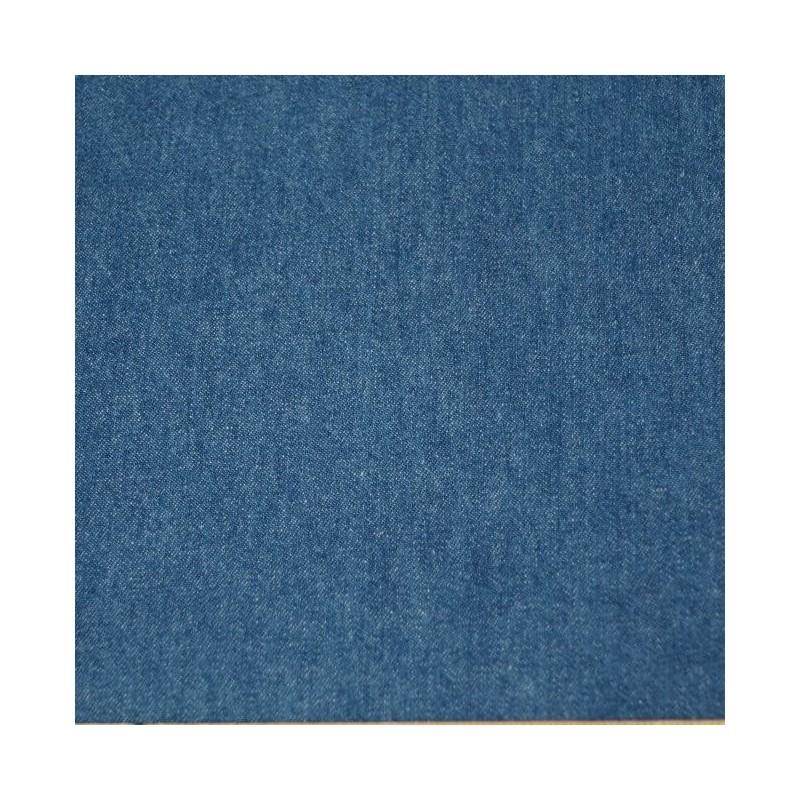 Medium Denim 100% Cotton Washed Denim Fabric 8oz Medium 287gsm